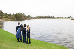 St Michael's Catholic Primary School Daceyville students exploring nearby parklands